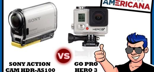 Comparativo: SONY ACTION CAM HDR-AS100V vs GO PRO HERO 3